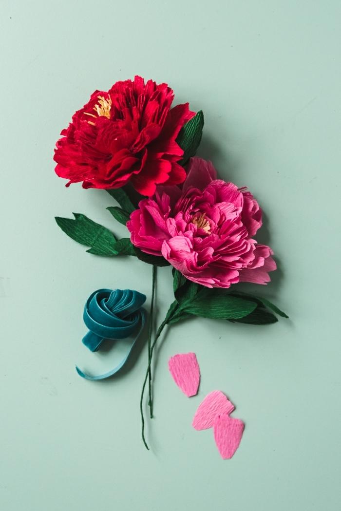 basteln mit papier blumen, wie macht man papierblumen, tolle frühlingsdeko