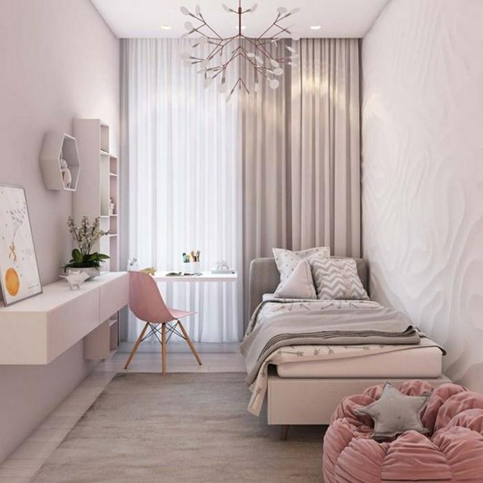 bilder für jugendzimmer, klemes zimmer einrichten, zimmergestalung in pastallfarben