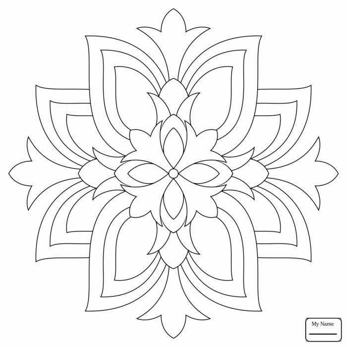 Mandala zum ausdrucken. schöne Bilder zum ausmalen für Kinder und Erwachsene, geometrisches Bild