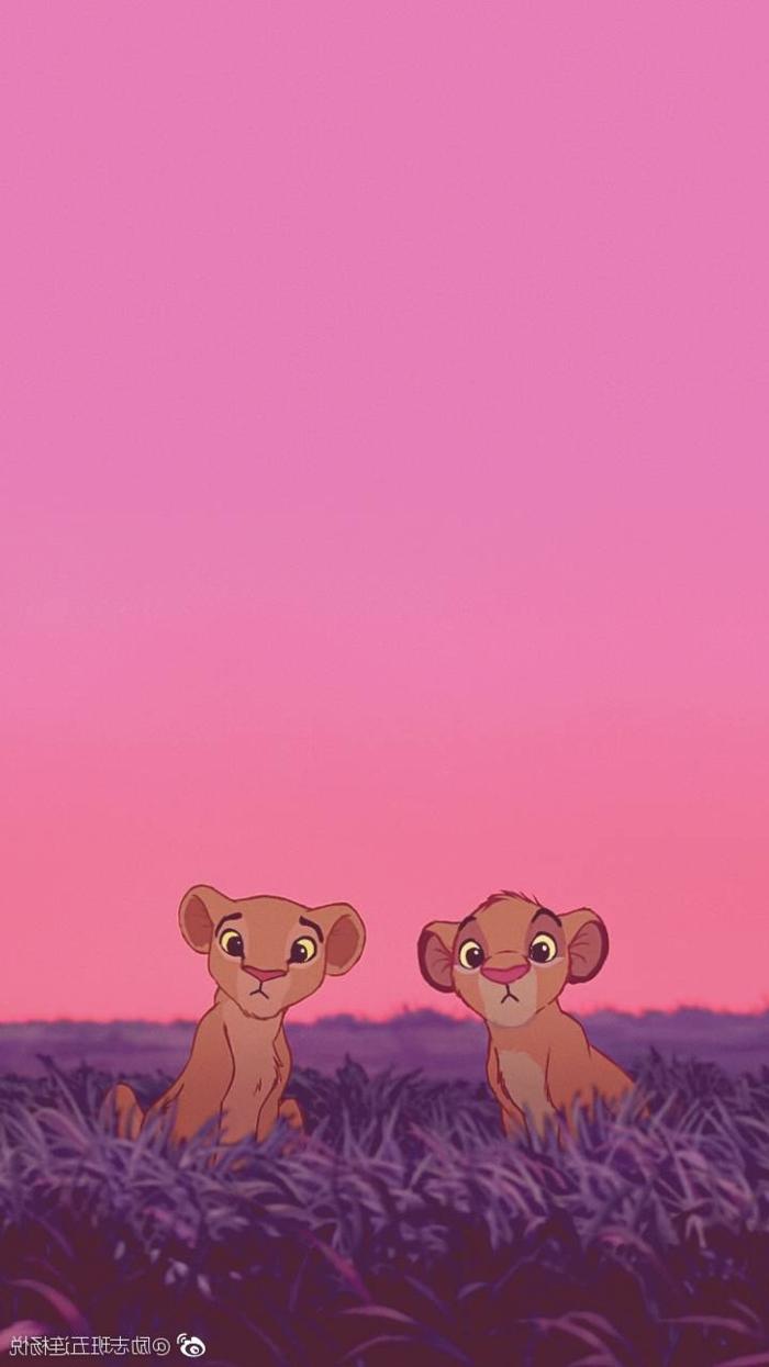 Der König der Löwen, zwei kleine Löwen Simba und Nala, Walt Disney Film aesthetic wallpaper hd