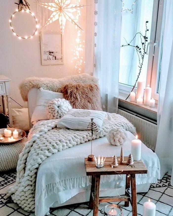 deko ideen jugendzimmer selber machen, cozy einrichtung in weiß und pastallrosa
