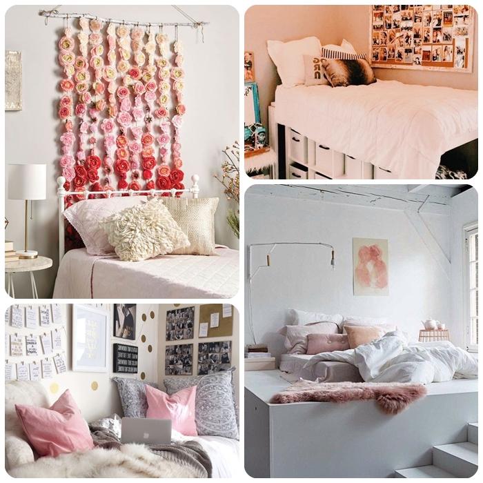 deko ideen kugendzimmer selver machen, wiedekoriere ich mein zimmer, wanddeko mit blumen, diy mobile