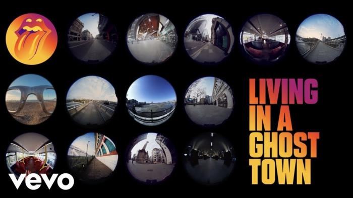 living in a ghost town, der titel des neuen lieds der band the rolling stones, clip zu dem song mit menschenleeren straßen in los angeles