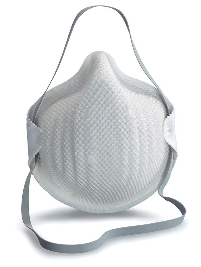 mundschutz richtig reinigen, eine große weiße maske gegen viren, bakterien und coronavirus