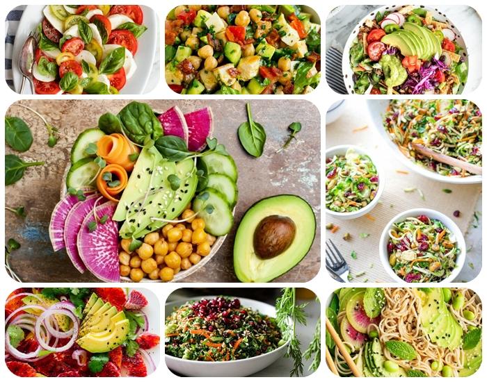 einfache salate rezepte zum abnehmen, leckeres mittagessen, gesund essen