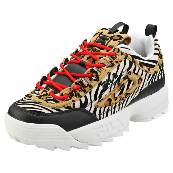 fila sneaker, animal print