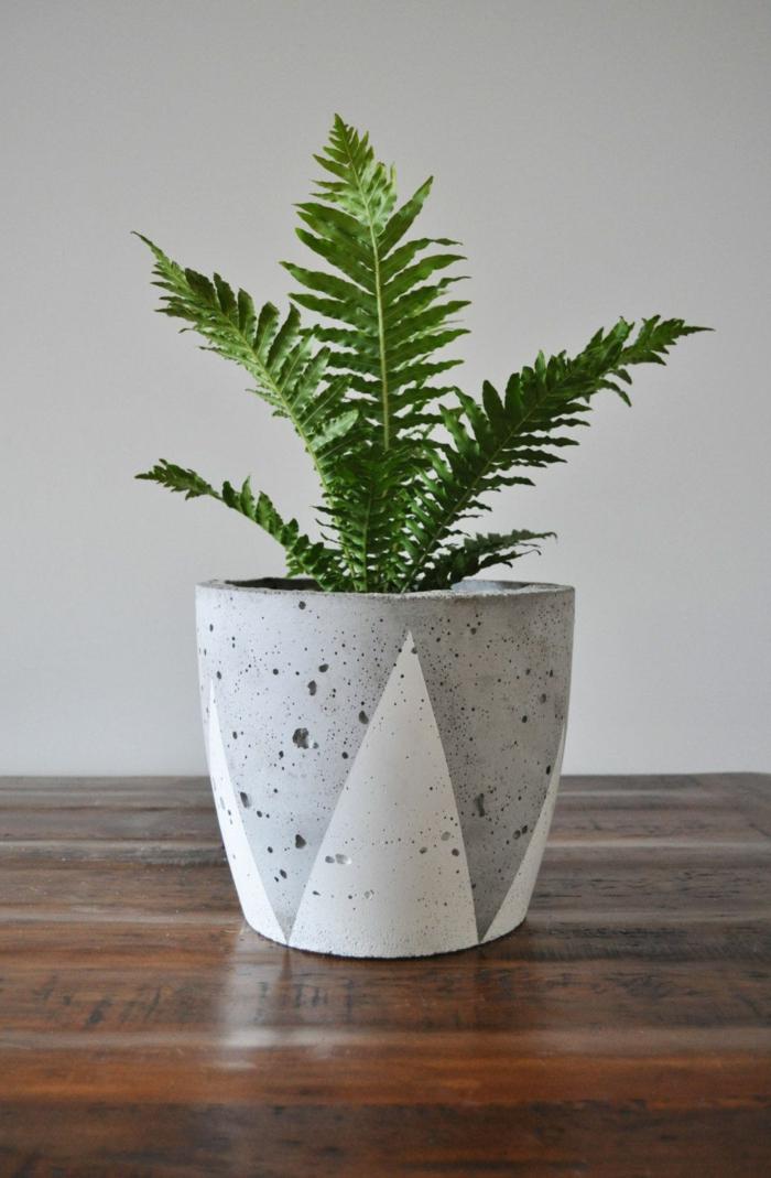 Blumenübertöpfe für Innen, Wohnzimmer Dekoration, Beton Blumentopf, große grüne Pflanze