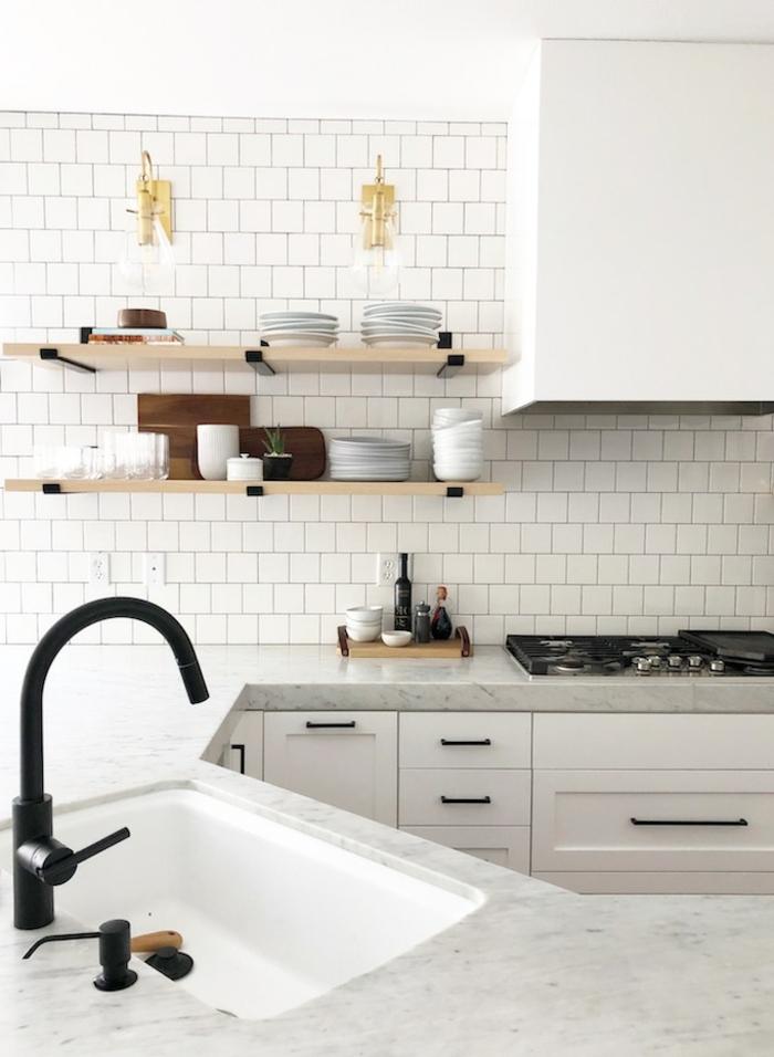 Kücheneinrichtung Ideen, Einrichtung mit offenen Regalen, Interior Design Tendenzen 2020