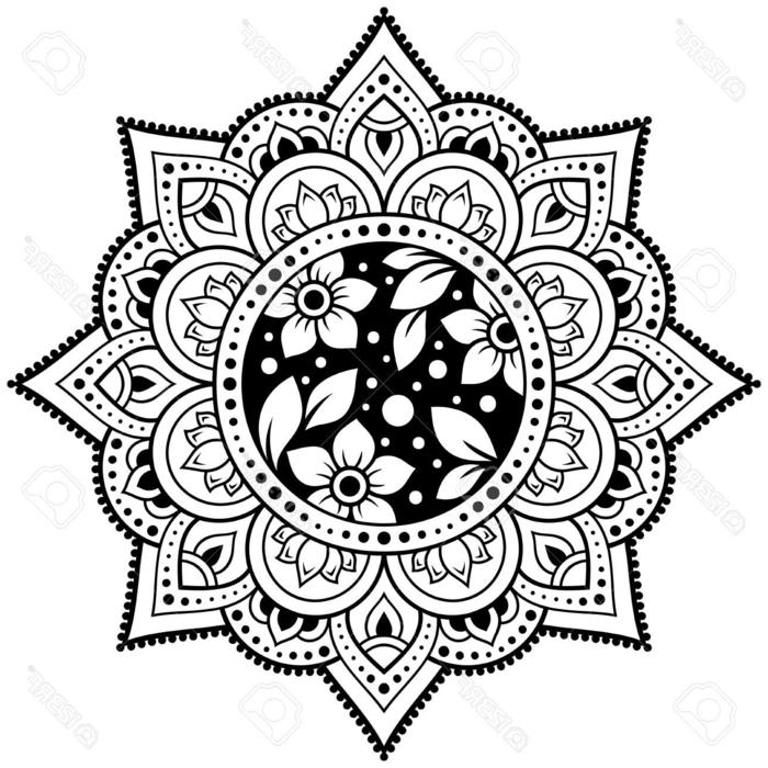 viele Motiven von Blumen, figurales Bild, Mandalas für Kinder, Bilder zum ausmalen