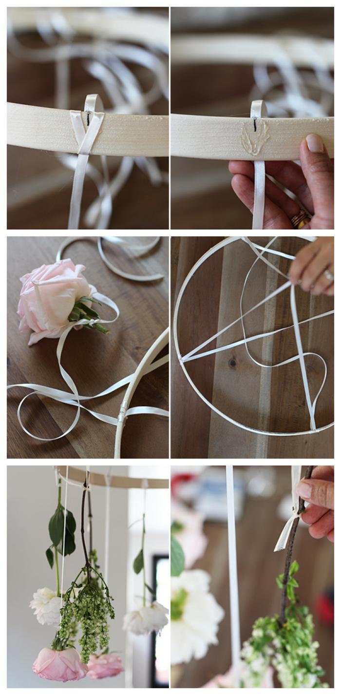 Kranzform aus Holz für Blumenkranz mit Rosen, DIY Anleitung Schritt für Schritt, pinterest basteln