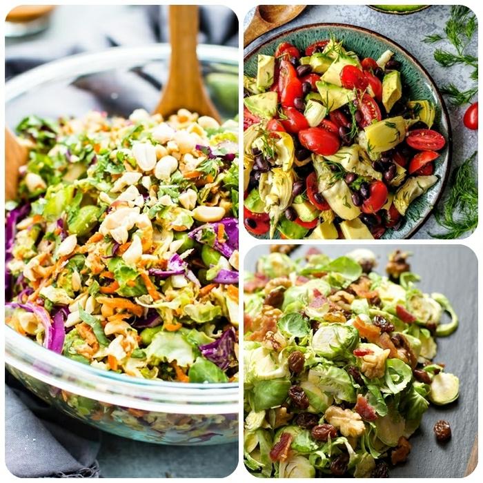 leckere salate für party, die bestne partysalate, gesundes partyessen, frühlingssalat ideen