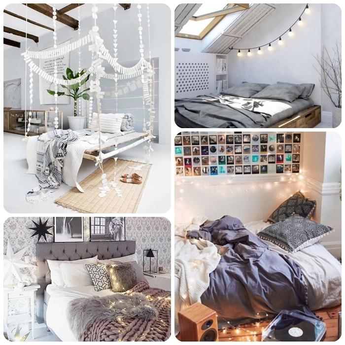 lichterketten ideen zimmer, jugendzimmer dekorieren ideen, tumblr fotos, teeganer room