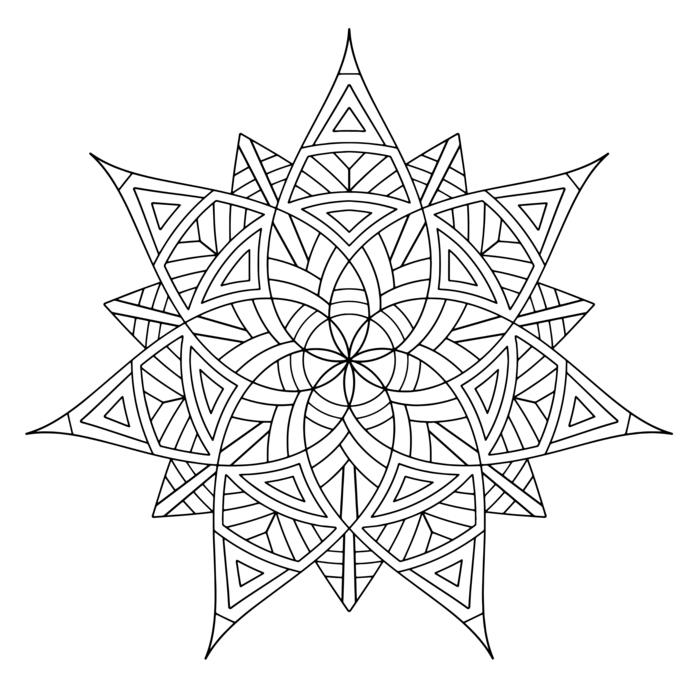 Mandala zum ausdrucken für Kinder und Erwachsene, geometrische Figuren, Bilder zum ausmalen
