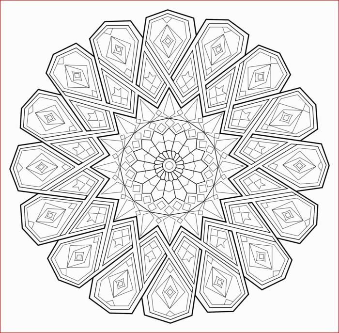 schönes Mandala Bild zum ausmalen, ausmalbilder zum ausdrucken, Blume in der Mitte