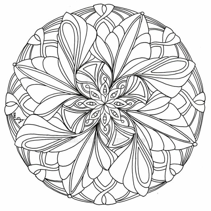 Window Color Vorlagen zum ausmalen mit Mandala Schaubild, geometrische und Blumen Motive