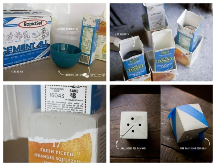 Schritt für Schritt Anleitung zum machen von Pflanzenhalter, Blumenübertöpfe für Innen, DIY Ideen