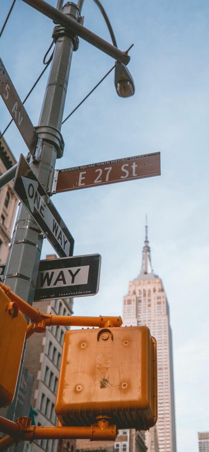 Bild vom Empire State Building in New York, aesthetic backgrounds, Hintergrund Bild für Handys