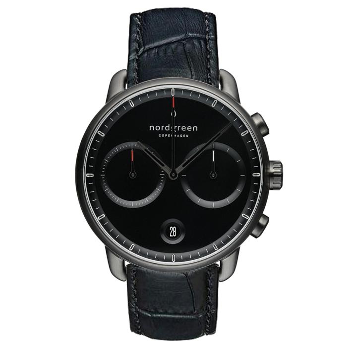 nordgreen uhren, neue kolletion, der pioneer, armbanduhr in schwarz und grau