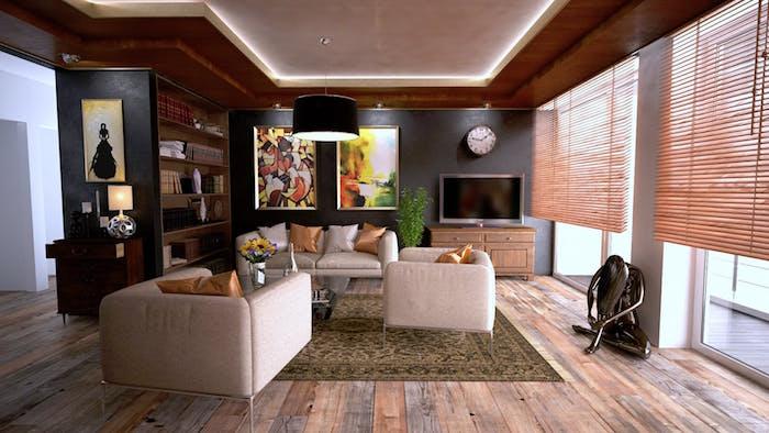Jalousien im Wohnzimmer, Sicht und Sonnenschutzmöglichkeiten für Ihr Zuhause