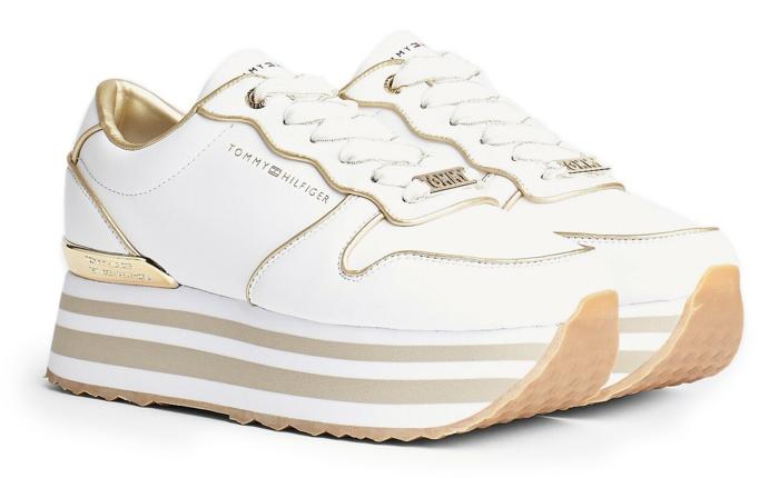 weiße platform sneaker