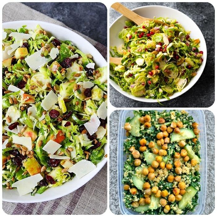 salat ideen, die bestne rzeepte, leckere sommersalate, kichererbsen mit quinoa und spinat