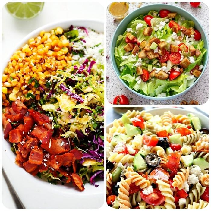 salat ideen, gesund essen, italienisches rzeept mit astam, oliven, otmatne und gurken