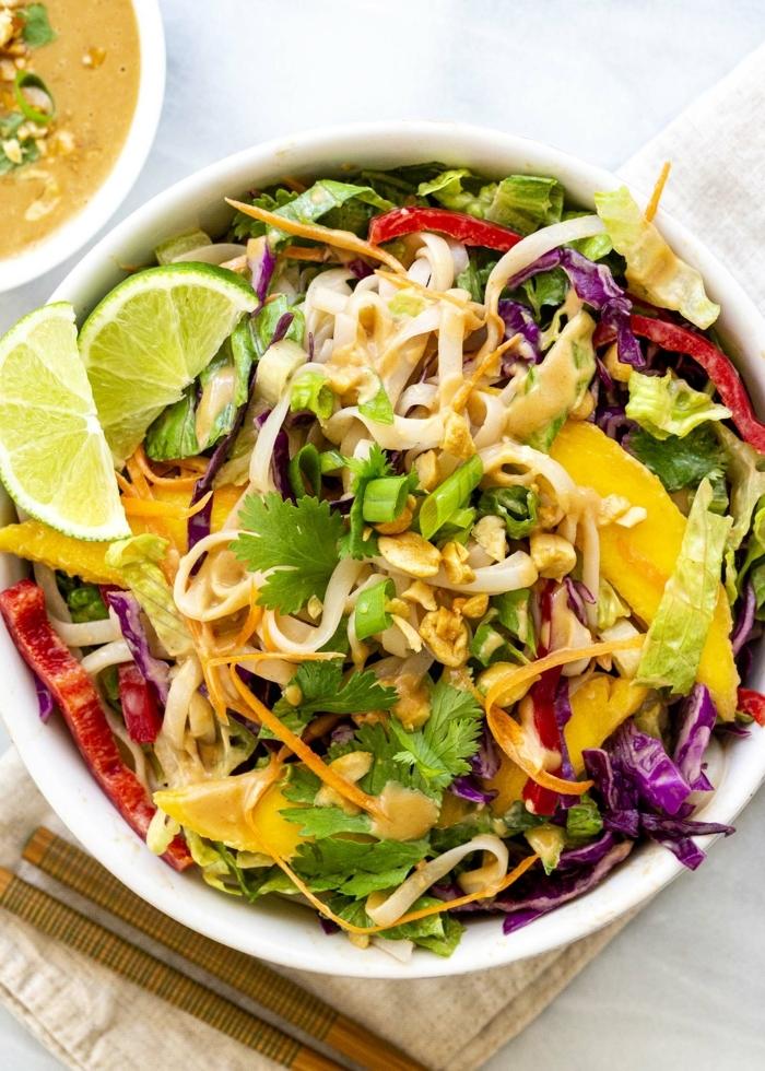 schneölle pasta mit zucchini, thai noodle salat mit limetten, leckere rezepte
