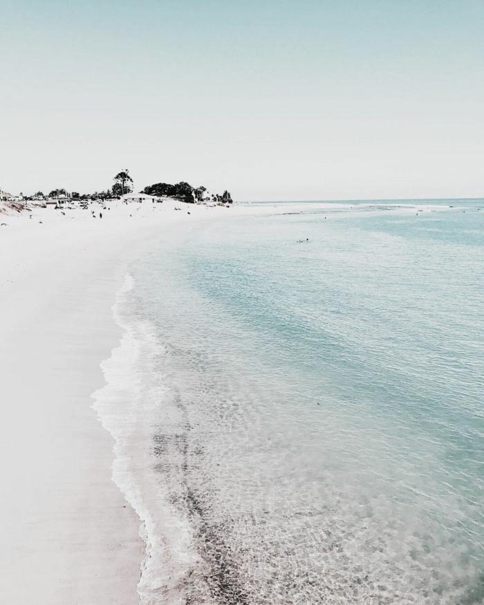 Foto mit vsco Filter, Strand Meer und Menschen im Hintergrund, cute iphone wallpapers