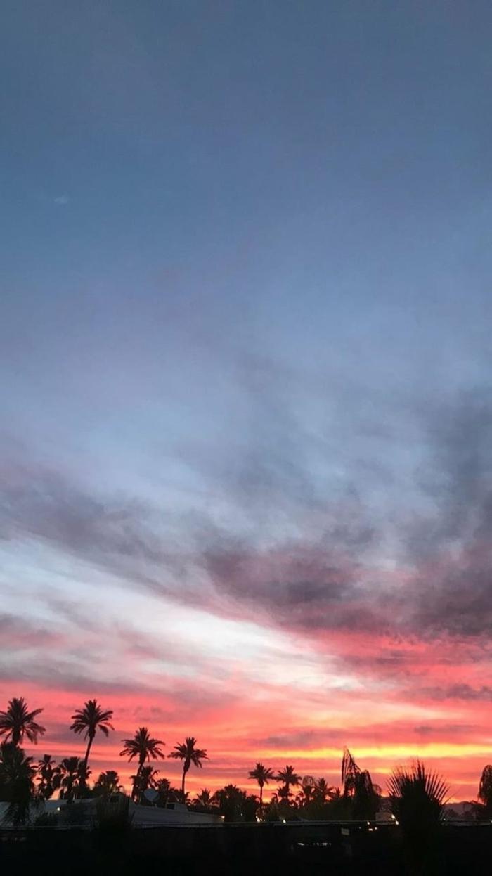 Pinke und blauer Himmel, tumblr aesthetic backgrounds, Fotos für Handyhintergrund inspirierend