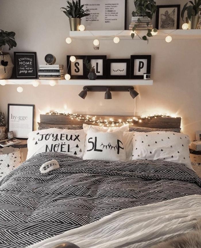 wanddeko schlafzimmer, teenager zimmer ideen jungs, zimmergestaltung in weiß und grau
