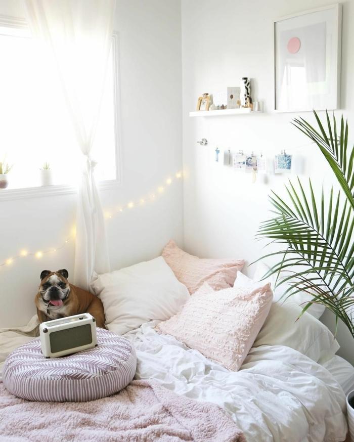 mädchenzimmer dekoideen, teenager zimmer mädchen, raumgestaltung in weiß, schlafzimmer