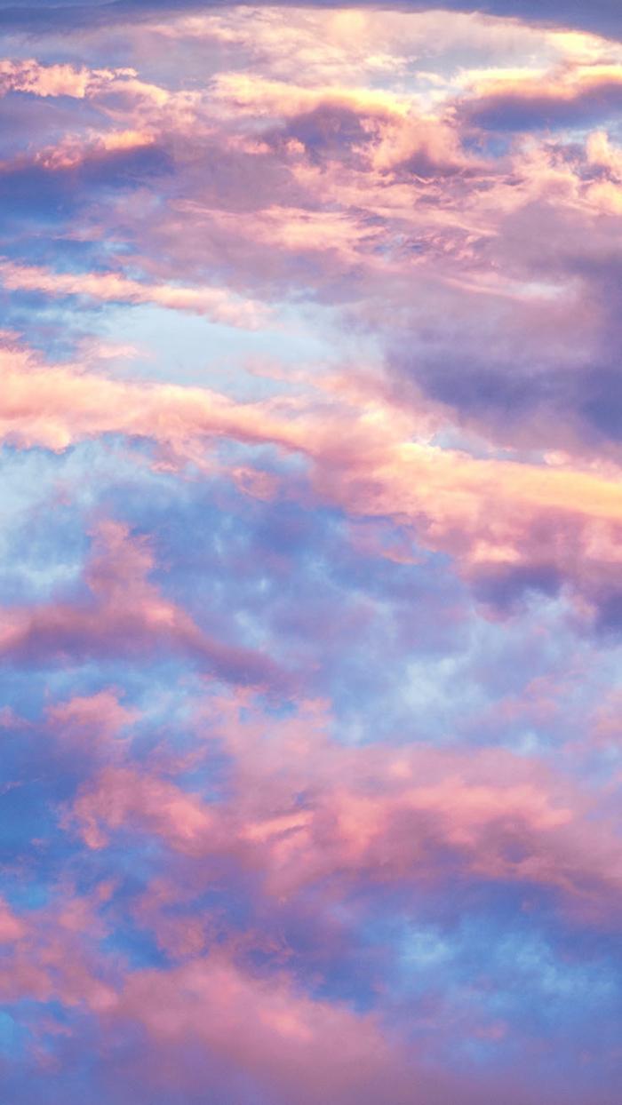 pinke und weiße Wolken, ästhetische Bilder für Handys, tumblr aesthetic backgrounds