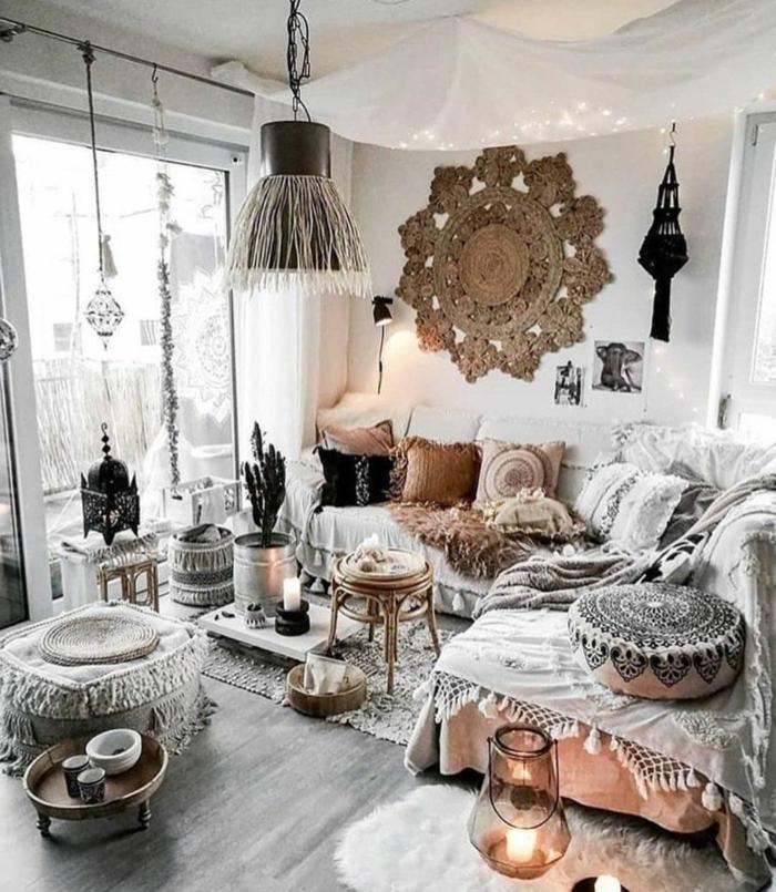 wohnung einrichten, zimmer inspiration, zimmergestaltung in skandinavischem stil, kleines wohnzimmer einrichten