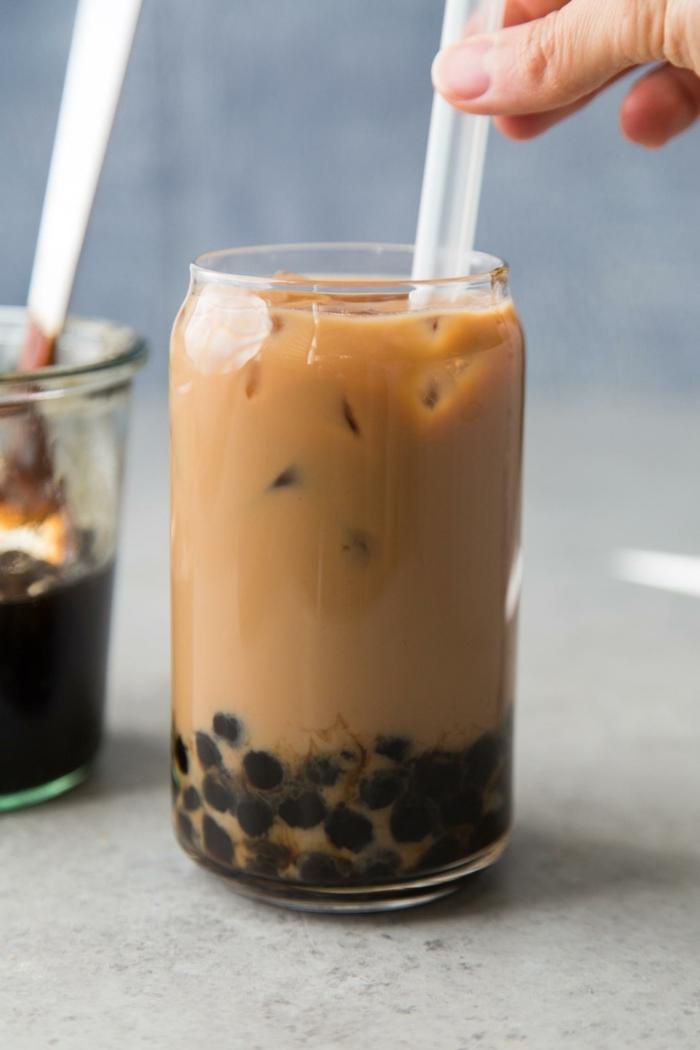 bubble tea selber machen rezept einfach und schnell, leckeres getränk, gesund