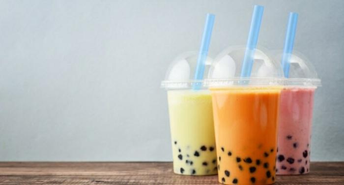 bubble tea selber machen rezept, frische getränke mit obst, milch und tapioca