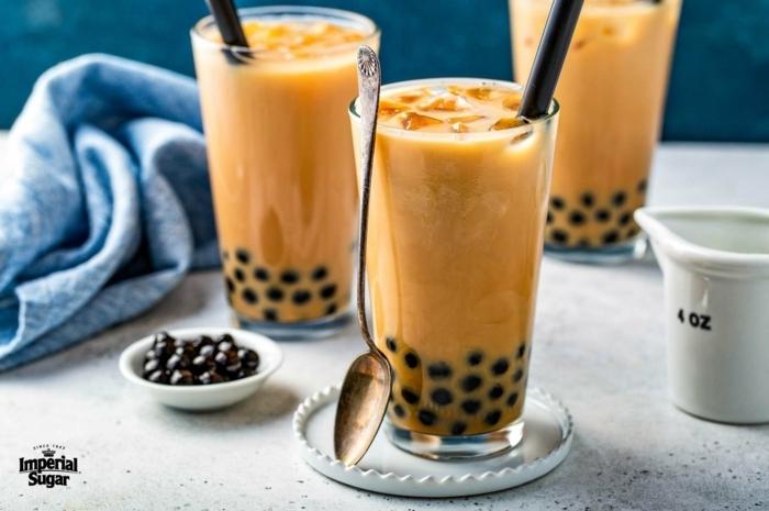 bubble tea selber machen rezept, leckere sommerrezepte, boba tee zubereiten