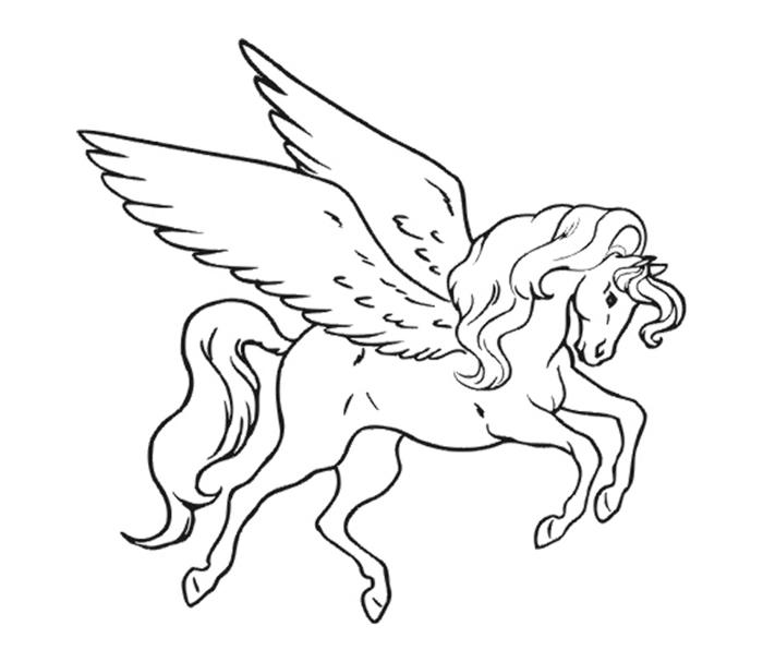 einhorn bilder frei herunterladen, unicorn mit großen flügeln, zeichnung