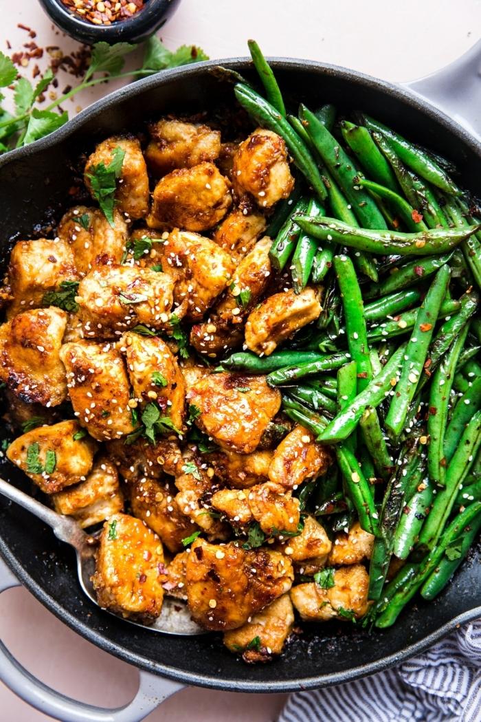 low carb high protein rezepte, hänchenfleisch mit sojasoße und sesamsamen