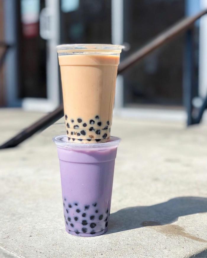 bubble tea perlen selber machen, frische sommergetränke, boba teas mit verschiedenen zutaten