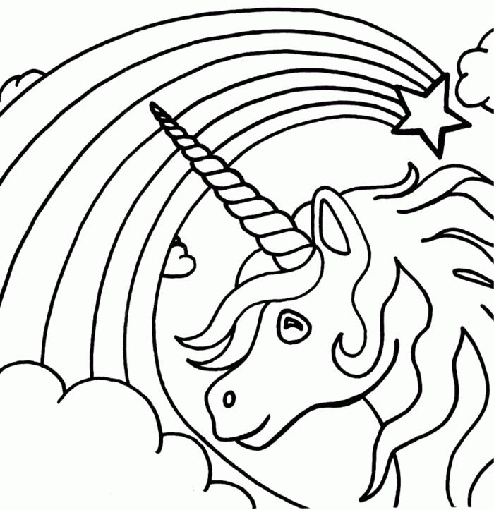 Ausmalbilder Einhorn | Einhorn Königreich