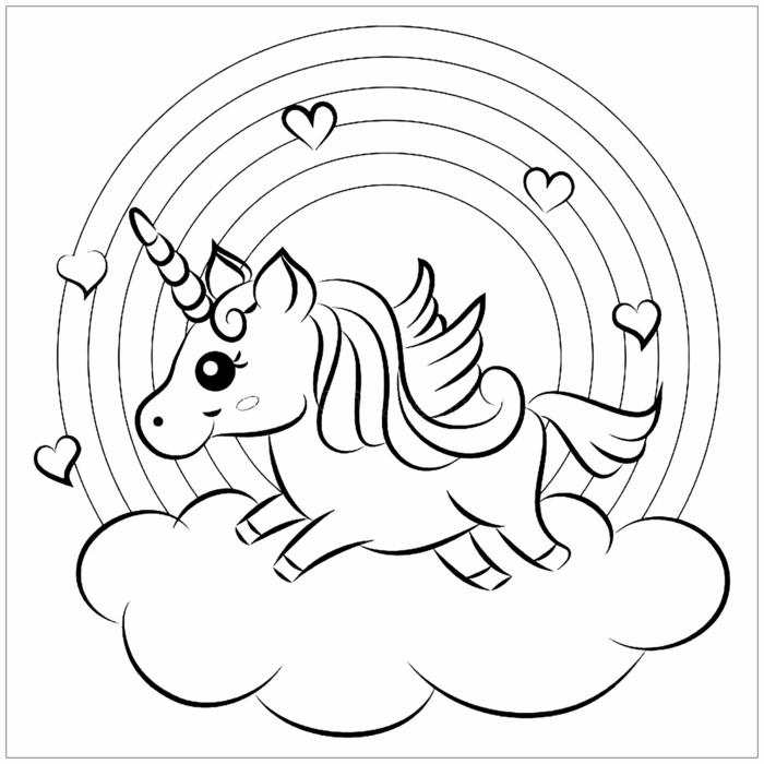 regenbogen unicorn ausmalbilder einhorn : ausmalbilder
