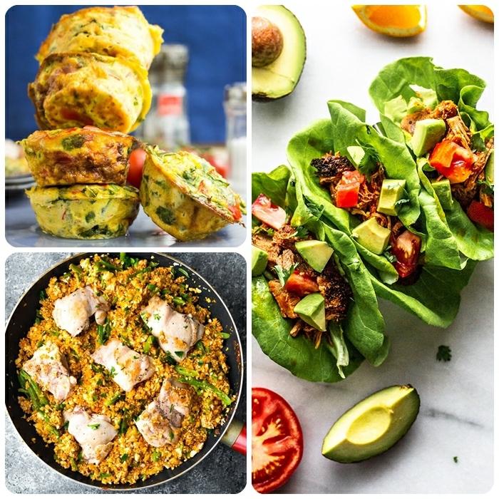 low carb abendesen schnell, muffins aus eiern, kohlenhydratarme tacos