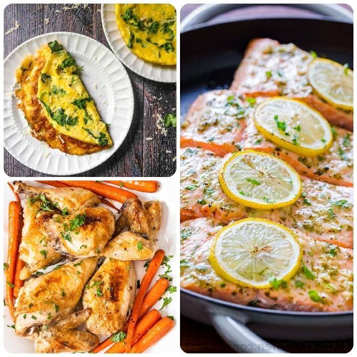 schnelle rezepte ohne kohlenhydrate, omelette mit spinat, was koche ich heute, gesund