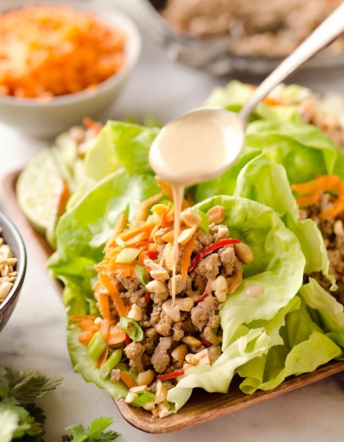 abendessen ohne kohlenhydrate rezepte kalt, low carb essen ideen, gesunde tacos