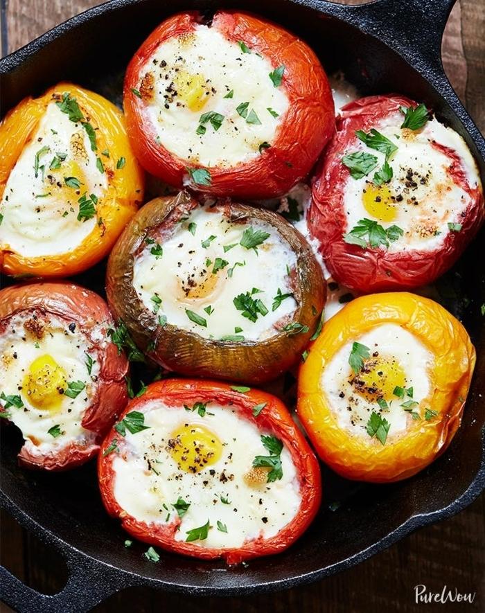 lowca arb essen, abendessen zum abenhemen rezepte, gefüllte paprikas mit eiern