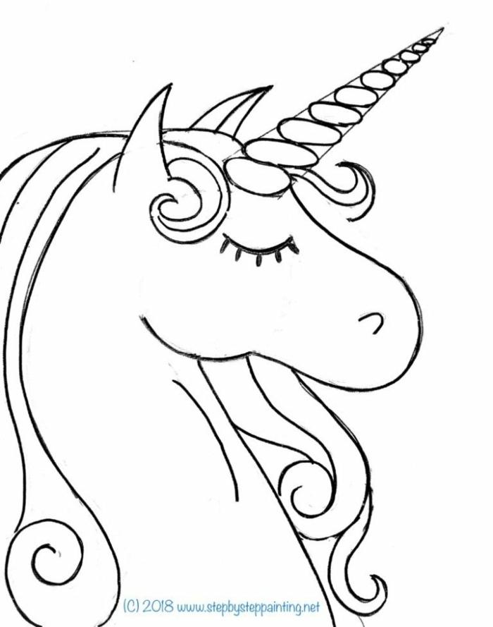 ausmalbilder einhorn kostenlos, bilder für kinder zum ausdrucken, unicorn