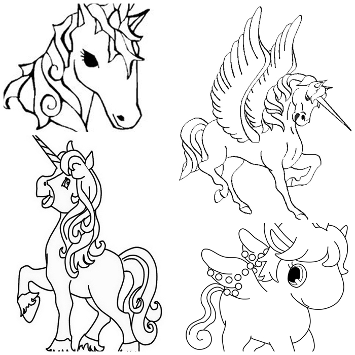 ausmalbilder einhorn kostenlos herunterladen, unicron zeichnungen
