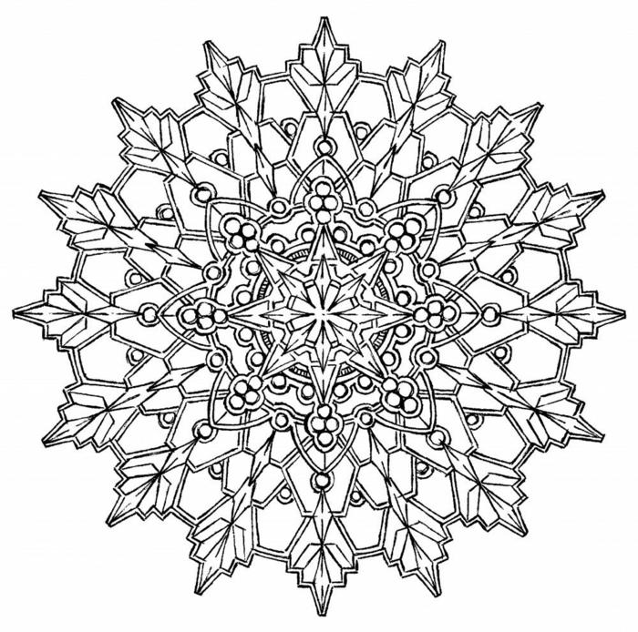 schöne Mandala Ausmalbilder für Kinder, kreisförmiges Muster mit Blumenmotiv und geometrischen Figuren