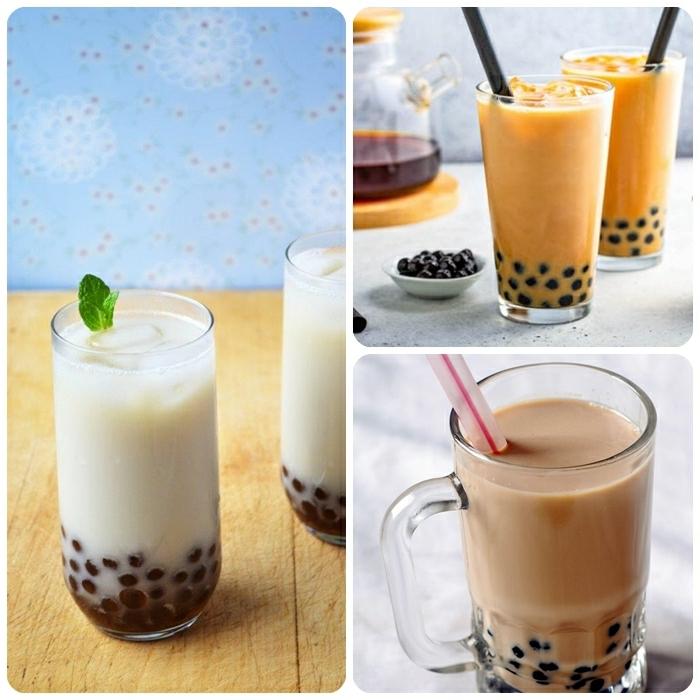 boba bubble tea, die besten rezepte, gesunde getränke mit milch, milchgetränke