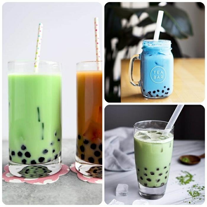 boba bubble tea selber machen, frische sommergetränke, getränke für den sommer